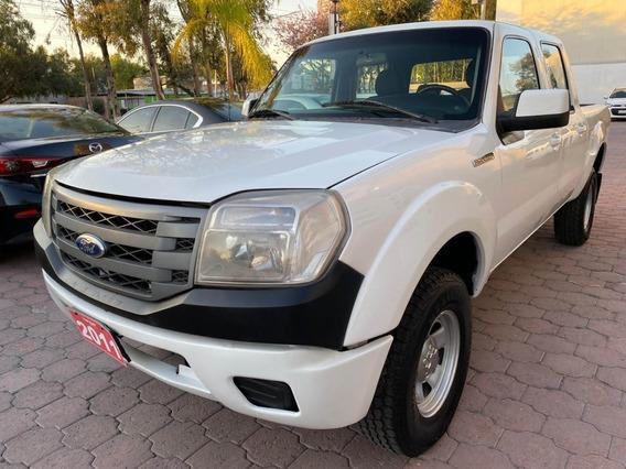 Ford Ranger 2011 Blanca Xl, 4 Puertas, Aire Acondicionado Mt