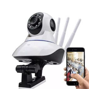 Câmera Ip Hd 720p 360 Onvif 1.0 Megapixels Wi-fi 3 Antenas