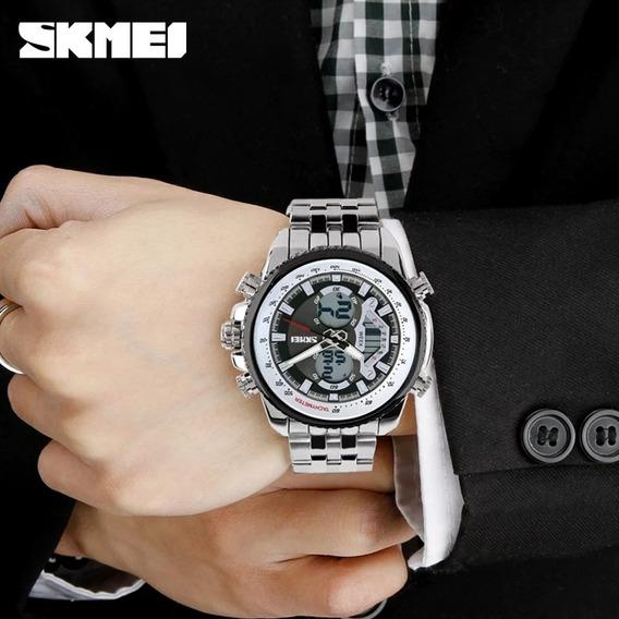 Relogios Masculino Skmei Dual Time Relógios Maculinos Skmei