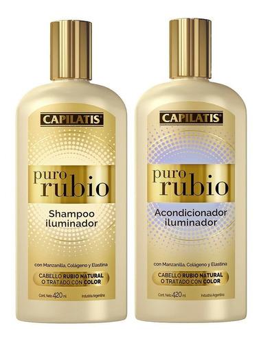 Puro Rubio Capilatis Shampoo Y Acondicionador Mercado Libre