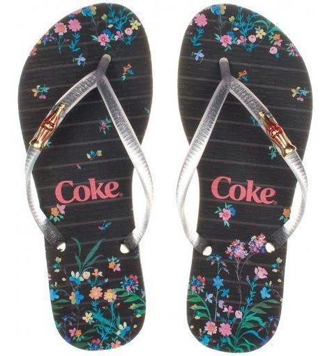 Chinelo Coca Cola Shoes Sweet Flower Feminino Adulto Cc2736