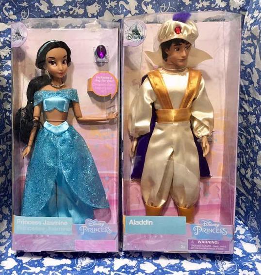 Bonecas Disney Store Princesa Jasmine E Aladdin