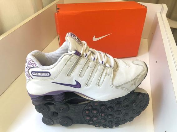 Tênis Nike Shox Original Número 36,5 Roxo