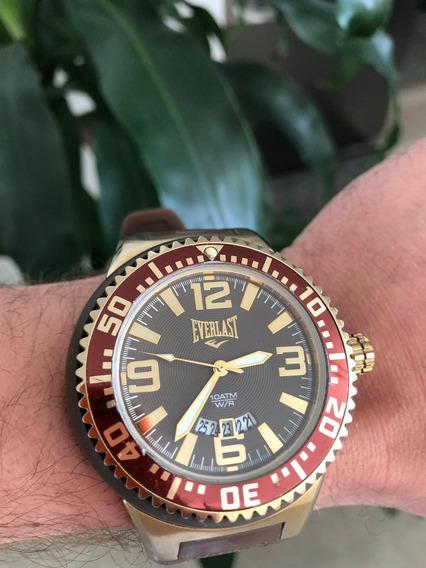 Relógio Everlast Analógico Gold