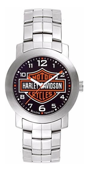 Relógio Bulova Masculino Harley Davidson Wh30144t Analogico