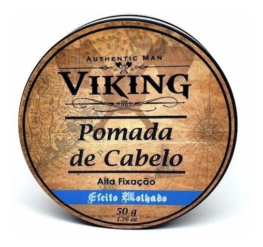 Pomada Cabelo Efeito Molhado Viking Authentic Man 50g