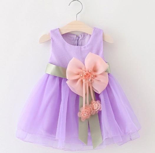 Vestido Infantil Menina Flor Pronta Entrega