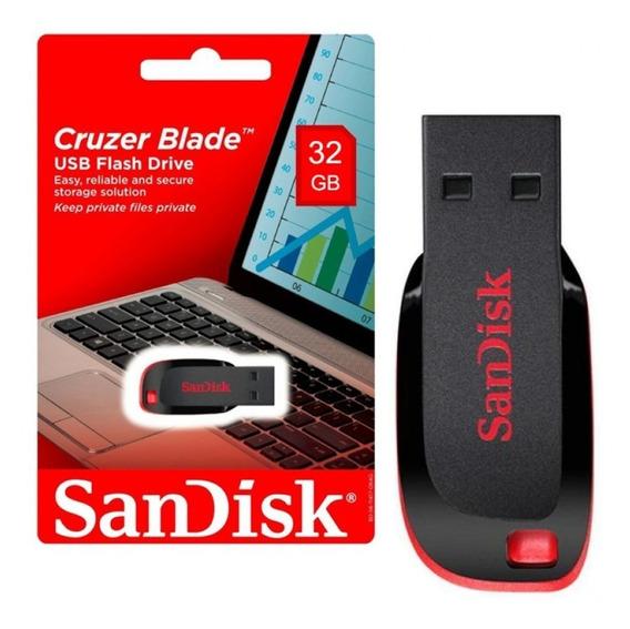 Promoção - Pen Drive Sandisk 32gb - Blade Original Lacrado