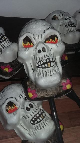 Calavera Con Palo Accesorio Disfraz Halloween O Decoración
