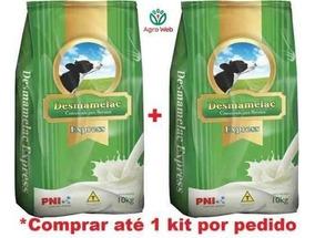 Kit 2 Leite Concentrado Bovinos Bezerro Desmamelac 10kg