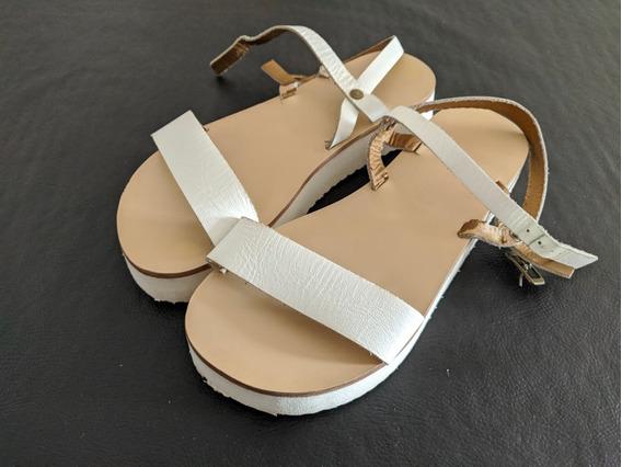 Sandalias Blancas Mimo & Co Talle 33