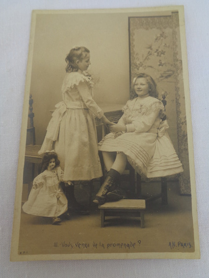 Cartão Postal Brinquedo Antigo Boneca 06#