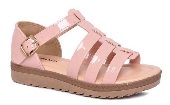 Sandália Infantil Flatform Pink Cats V0053 Pele/avela
