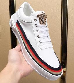Zapatillas Versace Cuero Blanco Tallas 38 A 44