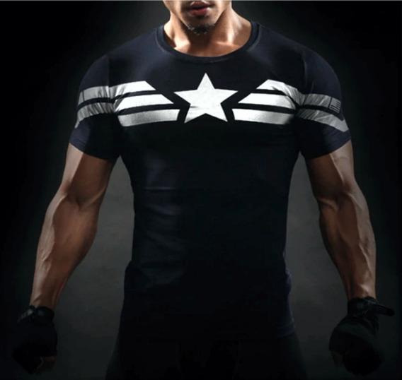 Remera Capitán América Compresion