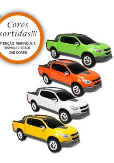 Kit 10 Carrinho Pick-up S10 Rally Infantil - Roma Brinquedos