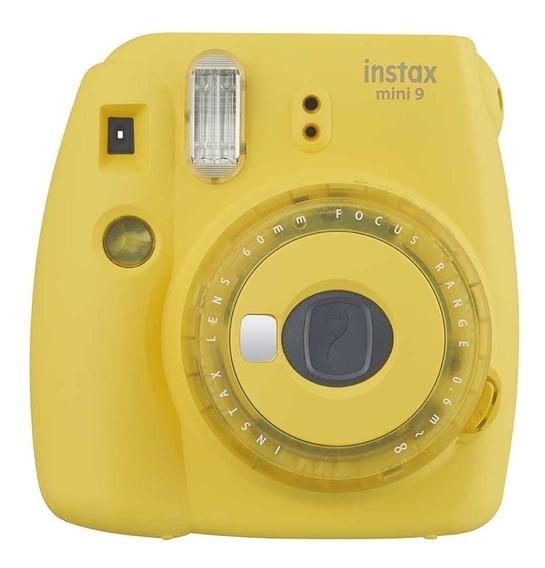 Câmera Fujifilm Instax Mini 9 Amarela + Filme 60 Poses