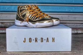 Tenis Nike Air Jordan 11 Retro Pinaccle Gold Original