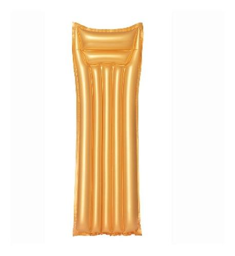 Imagen 1 de 5 de Colchoneta Inflable Flotador Gold Pileta 183 Cm Bestway