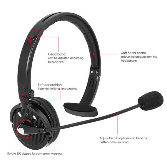 Headset Sk-bh-m10b Sem Fio Bluetooth Fone De