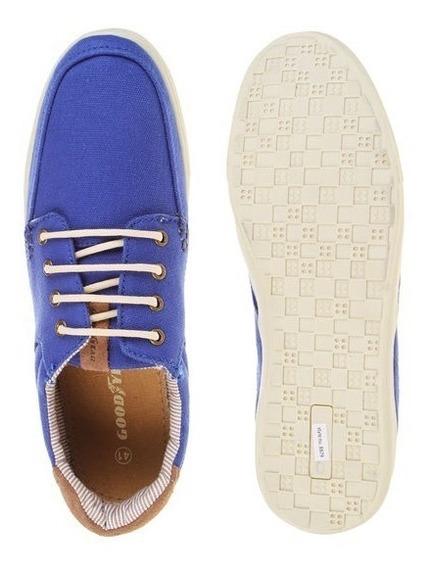 Zapatillas Goodyear Textil Con Cuero Promo Local Microcentro