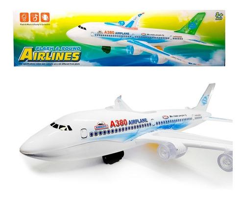 Avión Juguete Luces  Sonido Movimiento Airbus A380