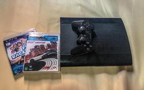Playstation 3+controle Original+2 Jogos