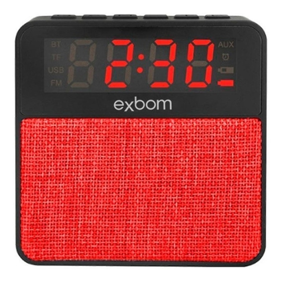 Radio Relógio Digital Bluetooth Usb Sd Mp3 Fm Despertador