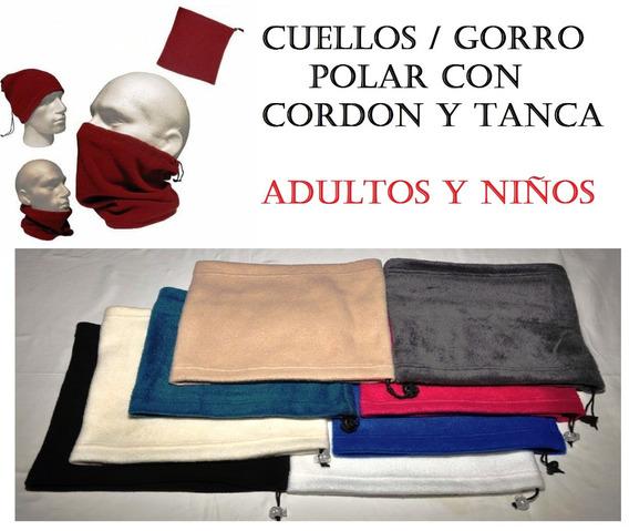 Gorro/cuello Polar Con Cordon Y Tanca (pack X 12 )