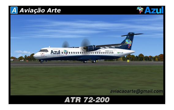 Aeronave Fsx - Frota Azul - Atr 72-200 / 500 / 600