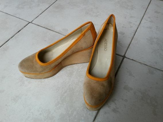 Zapatos Plataformas Adesso De Gamuza N° 39