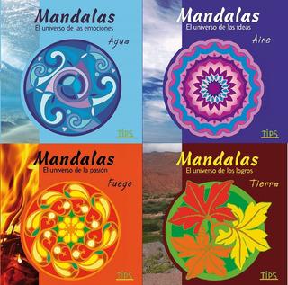 Set 4 Libros De Mandalas Para Colorear + Lápices De Regalo