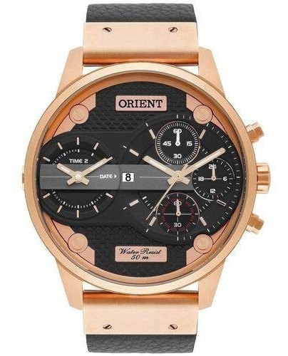 Relógio Orient Masculino 2analógicos Rosê Mrsct001 P1px