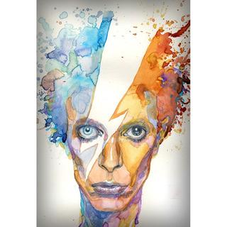 Placa - Quadro - Decorativo - David Bowie - Música - (v269)