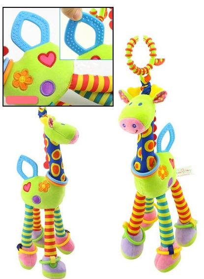 Girafa Mordedor Chocalho Pelúcia Brinquedo Para Bebê
