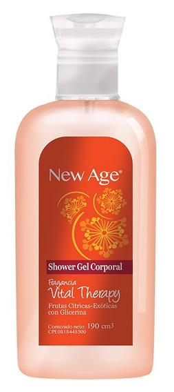Shower Gel New Age Vital Therapy Caja 12 Unidades De 190cc.
