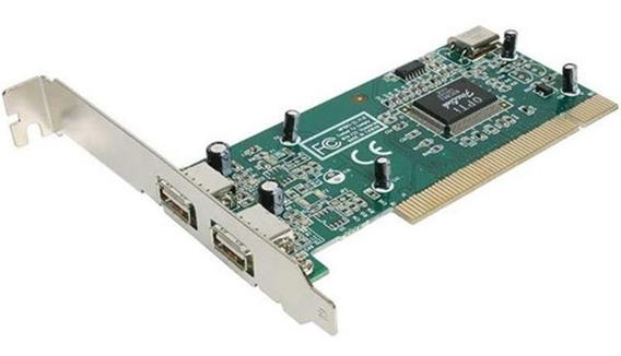 Placa Usb 2.0 Pci Opti Fire Link 82c861 / 2 Portas