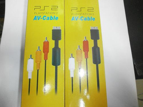 Cable De Audio Y Video Para Consolas De Play 2 / 3