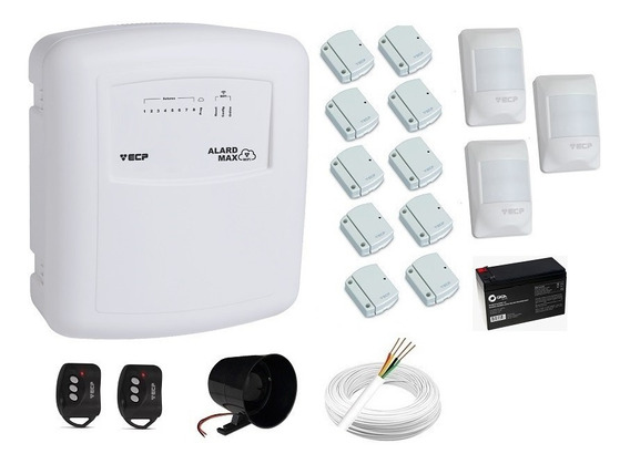 Kit Alarme S/ Fio Ecp Wifi 13 Sensores + Aplicativo Celular
