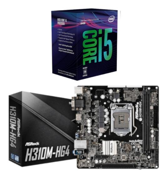 Kit Processador Intel I5 8400 + Placa Asrock H310m Hg4