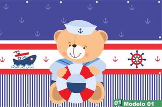 Painel Lona Urso Marinheiro Alta Resolução - Lona Fosca
