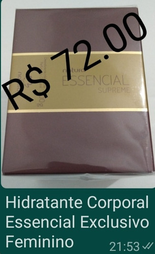 Imagem 1 de 1 de Hidratante Corporal Essencial Exclusivo Feminino
