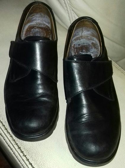 Zapatos Escolares Unisex Febo Cuero Negro Talle 38