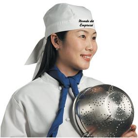 40 Bandanas Chef Lenco Touca * Bordado Incluso