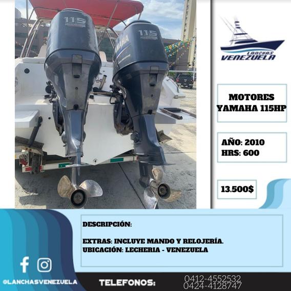 Pareja De Motores Yamaha 115hp Lv395