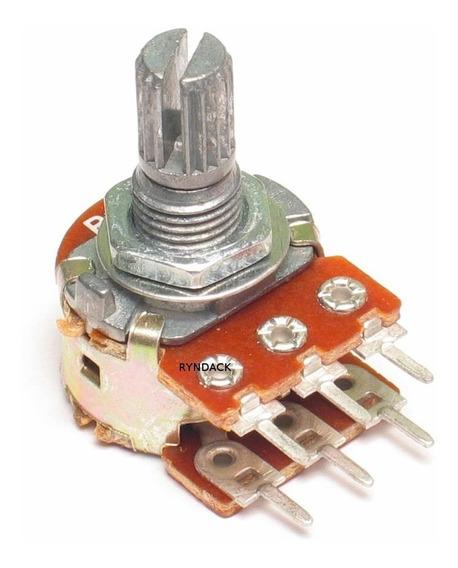 10 Peças Potenciômetro Linear Duplo 50k L15 Mini (wh148-2)