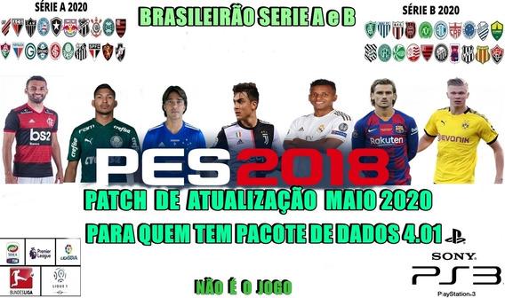 Patch 2020 Pes2018 Ps3 Pra Quem Tem Pacote De Dados 4.01