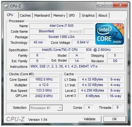 Processador Intel I7-930 Com Cooler Original Lga 1366.