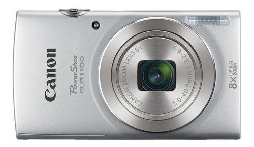 Canon PowerShot ELPH 180 compacta color  plateado