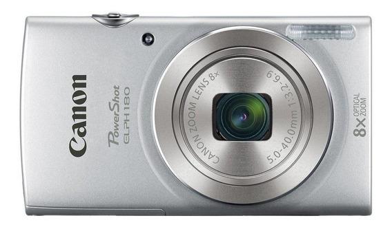 Canon PowerShot ELPH 180 compacta plata